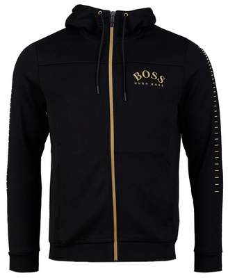 BOSS Athleisure Saggy Win Hooded Zip Through Sweat Colour: BLACK AND G