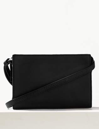 Marks and Spencer 2 Part Leather Cross Body Bag