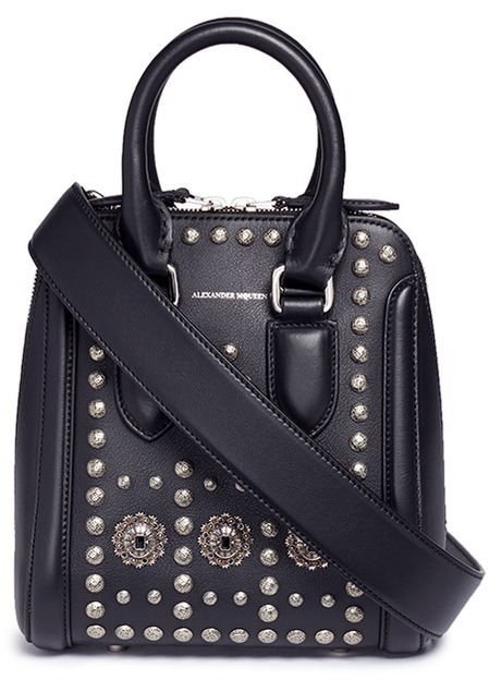 Alexander McQueen Alexander McQueen 'Heroine' small embellished leather crossbody bag
