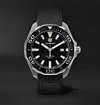 Tag Heuer Aquaracer Quartz 43mm Steel And Rubber Watch