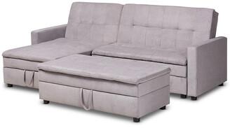 Design Studios Noa Modern And Contemporary Sectional Sleeper Sofa With Ottoman