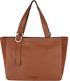 Vince Camuto Suede Gusset Leather Tote - Cali