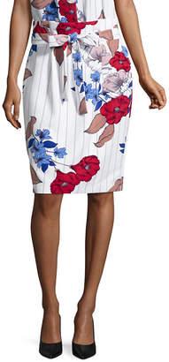 Liz Claiborne Ibiza Waves Womens Midi Pencil Skirt