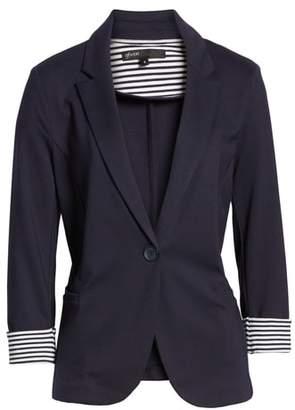 Gibson Roll Sleeve Knit Blazer