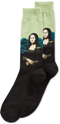Hot Sox Men's Mona Lisa Crew Socks