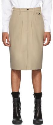BEIGE Random Identities Chinos Skirt