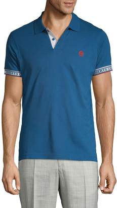 Roberto Cavalli Logo Cotton Polo