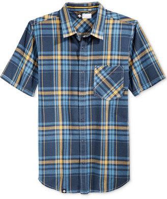 LRG Men's Short-Sleeve Big Cat Plaid Shirt $49 thestylecure.com
