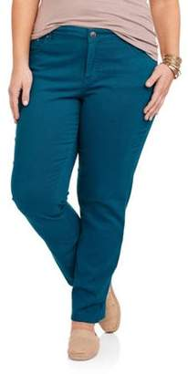 Just My Size Women's Plus-Size Slimming Classic Fit Straight-Leg Jeans With Tummy Control, Regular and Petite Lengths