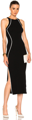 Mugler Contrasted Line Knit Dress $1,100 thestylecure.com