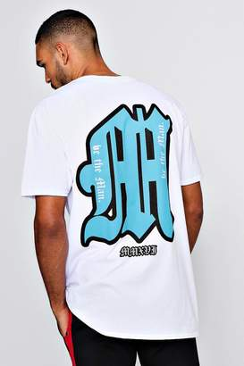 boohoo Oversized Front & Back Be The MAN Print T-Shirt