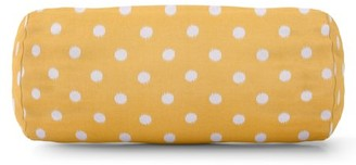 Majestic Home Goods Indoor Outdoor Citrus Ikat Dot Round Bolster Decorative Throw Pillow 18.5 in L x 8 in W x 8 in H