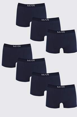 BoohoomanBoohooMAN Mens 7 Pack Navy Basic MAN Trunks, Navy