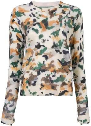 Zadig & Voltaire Zadig&Voltaire patterned crew neck sweater