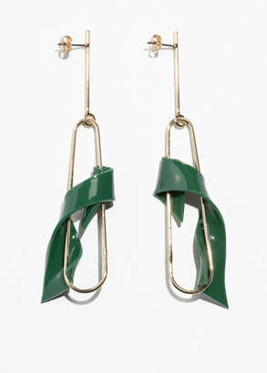 Twisted Resin Hanging Earrings