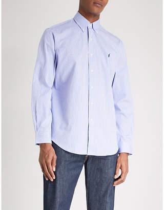 Polo Ralph Lauren Regular-fit single-cuff striped cotton shirt