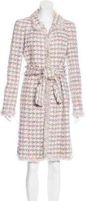 Chanel Frayed Tweed Coat
