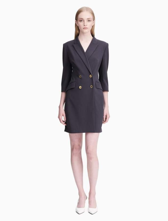 Calvin Klein double breasted 3/4 sleeve blazer dress