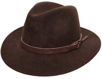 Classic Italy Classique Traveller Wool Felt Fedora Hat Size 59 cm