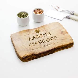 The Rustic Dish Personalised Live Edge Cheese/Chopping Board