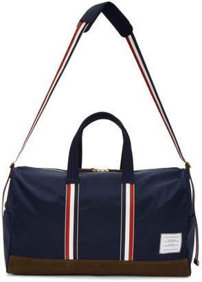Thom Browne Navy Unstructured Holdall Duffle Bag