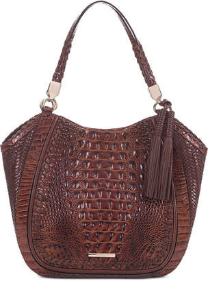 Brahmin Marianna Ross Embossed Leather Tote