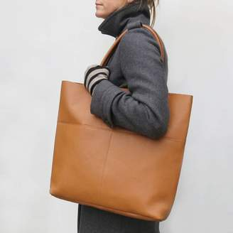 Aura Que Fair Trade Handcrafted Large Leather Tote Shopper Bag