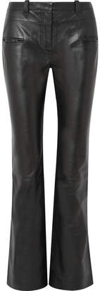 Altuzarra Serge Leather Bootcut Pants - Black