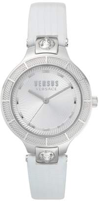 Versace Claremont Leather Strap Watch, 32mm