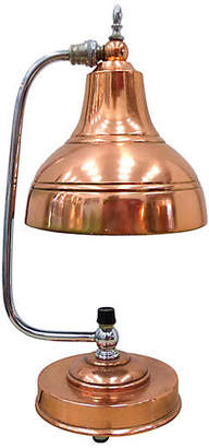 One Kings Lane Vintage Markel Art Deco Copper & Chrome Lamp