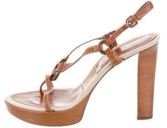 Sergio Rossi Leather Ankle Strap Sandal