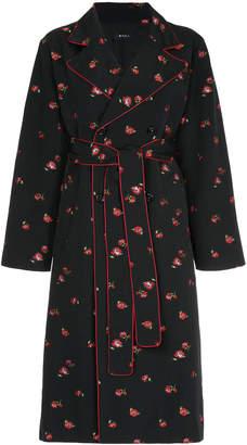 G.V.G.V. tie waist notch collar coat