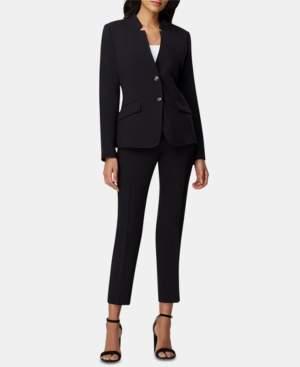 Tahari ASL Petite Star-Neck Ankle-Length Pants Suit