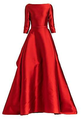 Carolina Herrera Women's Boatneck Silk & Wool Ball Gown