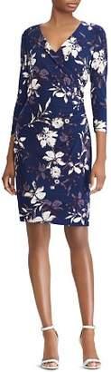 Ralph Lauren Faux-Wrap Floral Jersey Dress
