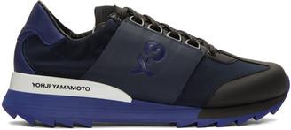Y-3 Blue Rhita Sport Sneakers $290 thestylecure.com