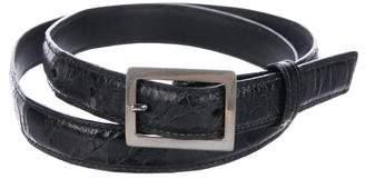 Mark Cross Alligator Waist Belt