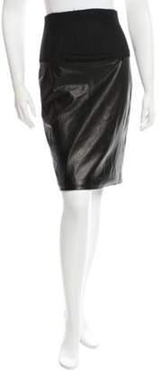 The Row High-Waisted Knee-Length Skirt Black High-Waisted Knee-Length Skirt
