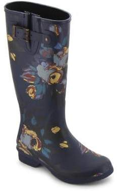 Chooka Nina Printed Matte Rubber Tall Rain Boots