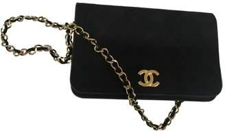 Chanel Wallet on Chain velvet clutch bag