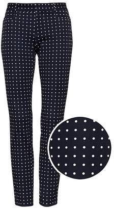 Banana Republic Sloan Skinny-Fit Polka Dot Ankle Pant
