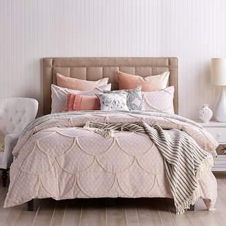 Peri Home Chenille Scallop Duvet Cover, Full/Queen