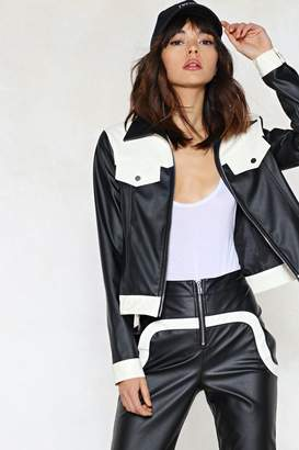 Nasty Gal Call the Sheriff Faux Leather Jacket
