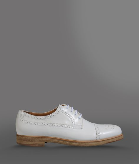 Giorgio Armani Derby In Laser-Perforated Leather