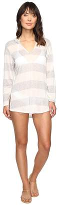 Splendid Homespun Tunic Hoodie Cover-Up Women's Swimwear