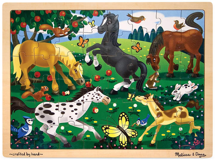 Melissa and Doug Kids Toy, Frolicking Horses 48-Piece Jigsaw Puzzle