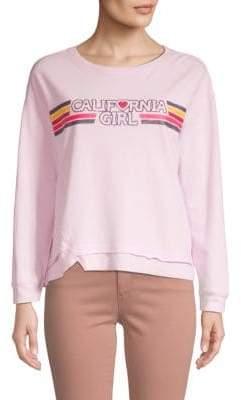 Graphic Asymmetrical Sweatshirt
