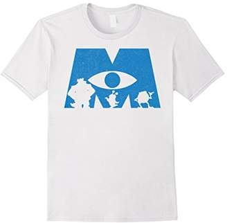 Disney Monsters Inc. Logo Silhouette Graphic T-Shirt