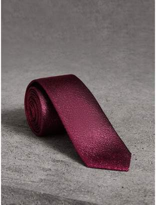 Burberry Slim Cut Metallic Silk Blend Tie