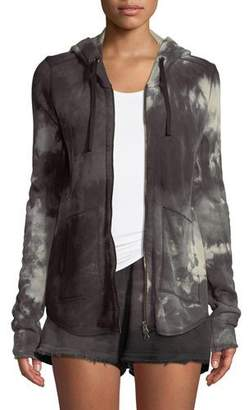 ATM Anthony Thomas Melillo Tie-Dye French-Terry Zip-Front Hoodie Jacket